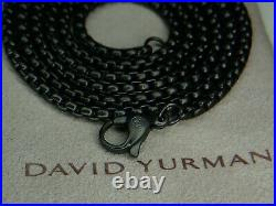18.3 Grams David Yurman 2.7MM Black Stainless Steel Box Link Necklace 26 Inches