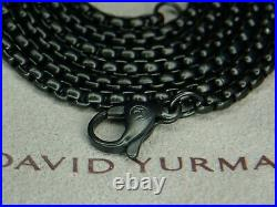 18.5 Grams David Yurman 2.7MM Stainless Steel Box Link Necklace 26 Inches Long