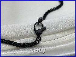 $255 David Yurman Black 2.7mm Box Chain Stainless Steel 26in Chain Necklace