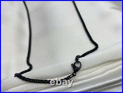 $255 David Yurman Black 2.7mm Box Chain Stainless Steel 26in Chain Necklace DY