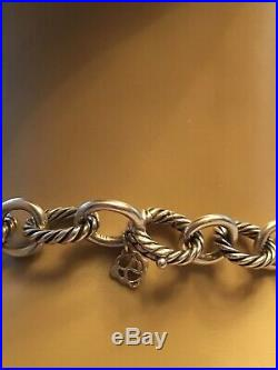 Auth David Yurman Sterling Silver Large Oval Link Necklace 17