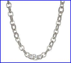 Authentic David Yurman Large Oval Link Chain Necklace 17.5