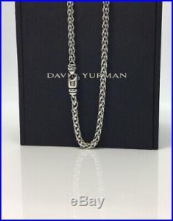 Authentic-David Yurman Sterling silver 4mm Wheat Chain Necklace 17