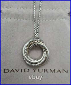 Authentic David Yurman The Crossover Collection Pendant Necklace 14k