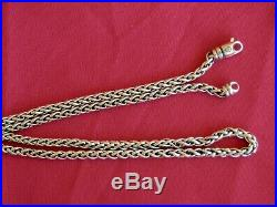 Classic David Yurman Sterling Silver 4MM Wheat Chain Necklace 33 Grams 22 Long