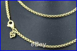 DAVID YURMAN 18K Yellow Gold 26 Box Link Necklace 2.7 mm WAS $3,200.00+