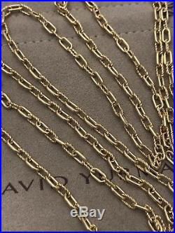 DAVID YURMAN 18k 750 YELLOW GOLD MADISON LINK 36 INCHES CHAIN NECKLACE