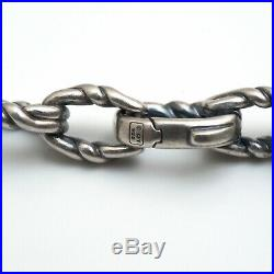 DAVID YURMAN 26 Mens 8mm Twist Link Chain Necklace in Sterling Silver NWT