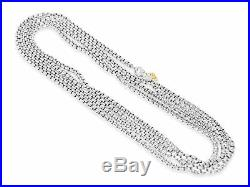 DAVID YURMAN 3.6MM WIDE 72 BOX CHAIN STERLING SILVER With 14K HANGTAG NECKLACE