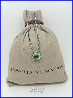DAVID YURMAN Chatelaine Pendant Necklace with Prasiolite in Sterling Silver 18