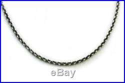 DAVID YURMAN Mens New 4.6mm Sterling Silver 22 Knife Edge Chain Necklace