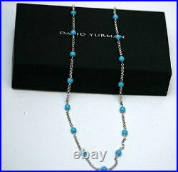 DAVID YURMAN NEW Turquoise Bead and Chain Necklace 18