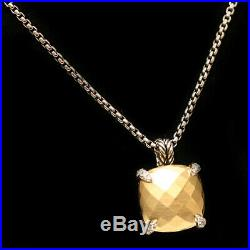 DAVID YURMAN New 14mm Chatelaine Pendant Necklace Silver 18K Bonded Gold Diamond