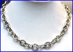 DAVID YURMAN New Sterling Silver Oval Link Chain with Cable Necklace 18.5