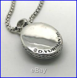 DAVID YURMAN Petrvs Scarab Amulet Pendant Necklace in Sterling Silver 20 Chain