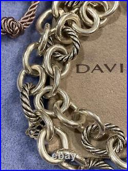 DAVID YURMAN SILVER OVAL LINK NECKLACE With POUCH