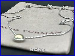 DAVID YURMAN Sterling Silver Chatelaine Pendant Necklace With 18K Gold / NWOT