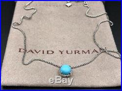DAVID YURMAN Sterling Silver Chatelaine Pendant Necklace With Turquoise NWOT