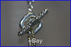 DAVID YURMAN Toggle Clasp Necklace Two-tone 18K Yellow Gold & 925 Sterling 17LG