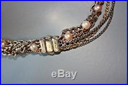 DAVID YURMAN Two-Tone Pearl Multistrand Necklace 18K Yellow Gold Sterling Silver
