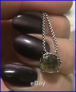 DAVID YURMAN Women's Chatelaine Pendant Necklace with 8mm Prasiolite $350 NEW