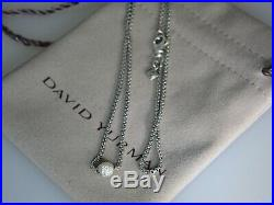 David Yurman 1.7mm Pave Ball Diamond Sterling Silver 18 In Necklace