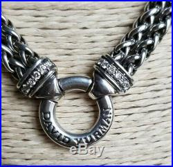 David Yurman 18 Double Wheat Chain Necklace With Diamonds