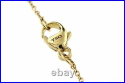David Yurman 18k Yellow Gold Necklace Chain Only 1.1mm 16 17 18 Adjustable