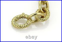 David Yurman 18k Yellow Gold Oval Cable Chain Link Necklace 18 Long