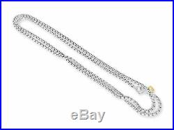 David Yurman 3.6mm Wide Box Chain Sterling Silver & 14k Dy Tag 20 Inch Necklace