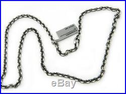 David Yurman 4.6mm Knife Edge Chain Necklace Sterling Silver 22 Inches NWT