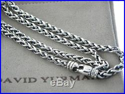David Yurman 4mm Wheat Chain Sterling Silver 22 Inch Necklace