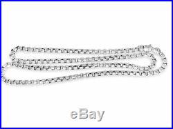 David Yurman 5.2mm Box Chain Sterling Silver 22 Inch Necklace