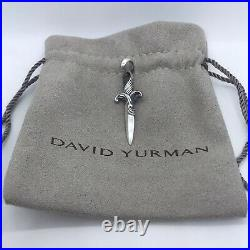 David Yurman 925 Sterling Silver Waves Dagger Amulet Necklace Chain Pendant Only