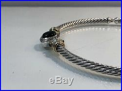 David Yurman Albion Cable Choker Necklace Sterling with18k Gold Onyx Diamonds WOW