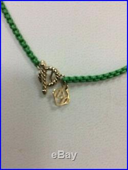 David Yurman Bel Aire 41 Adj Chain Necklace Green 14k Yellow Gold Accents