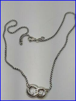 David Yurman Belmont Double Curb Link Sterling Silver 18K Yellow Gold Necklace