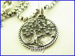 David Yurman Cable Collectibles Tree of Life Amulet with Diamonds Necklace 26