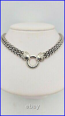 David Yurman Chain Collection Double Wheat Chain Necklace with Diamonds $1,300