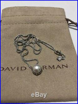 David Yurman Chatelaine Pendant Necklace with Pearl