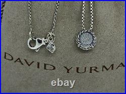 David Yurman Chatelaine Pendant Necklace with Prasiolite Sterling Silver 925