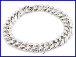 David Yurman Cordelia Sterling Silver Large Curb Link Collar Necklace 18.5 Long