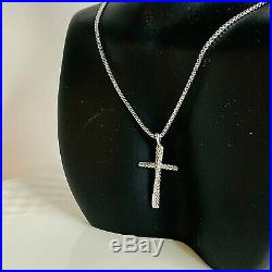 David Yurman Crossover Cross Necklace with Diamonds 29mm 16 Authentic NEW