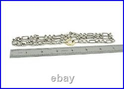 David Yurman Figaro Cable Link 18k Gold & Sterling Silver Necklace 32 #d3183-1
