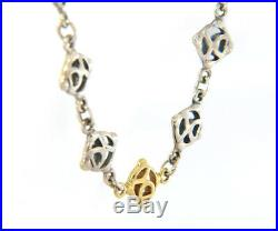 David Yurman Logo Link Chain Necklace in 18K and Sterling