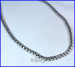 David Yurman Men's Extra Large Box Chain Necklace Sterling Silver 20 NWT