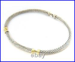 David Yurman Metro Cable Collar Necklace in 14K and Sterling