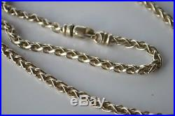 David Yurman Necklace Wheat Chain Cable Sterling Silver Clasp 18 4mm