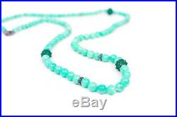 David Yurman New Blue Pearl Necklace Amazonite Green Onyx Cable Berries