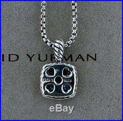 David Yurman Petite Albion Pendant Necklace with Blue Topaz and Diamonds